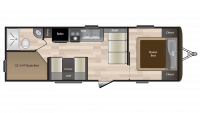 2019 Hideout 262LHS Floor Plan