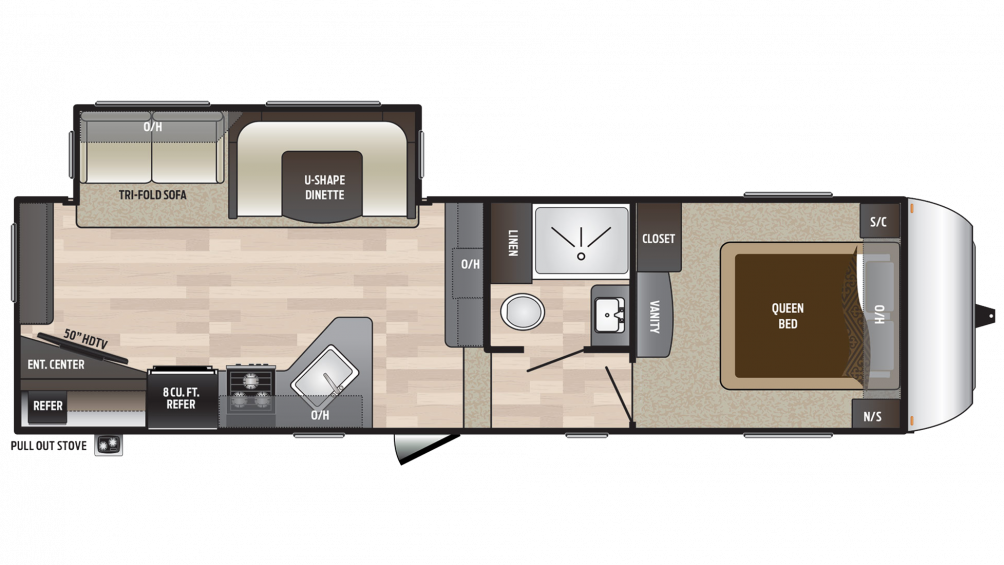 2018 Hideout 262RES Floor Plan Img