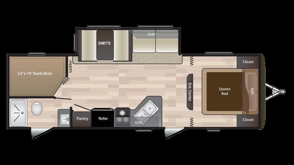 2018 Hideout 272LHS Floor Plan Img