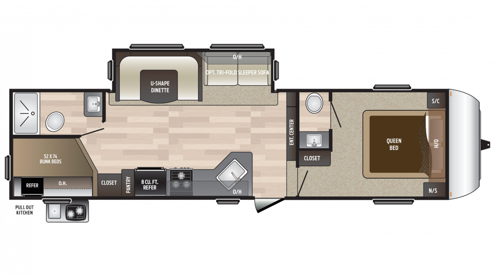 2018 Hideout 281DBS Floor Plan