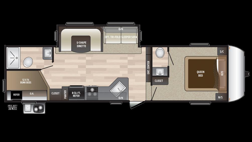 2018 Hideout 281DBS Floor Plan Img