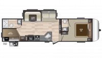 2019 Hideout 281DBS Floor Plan