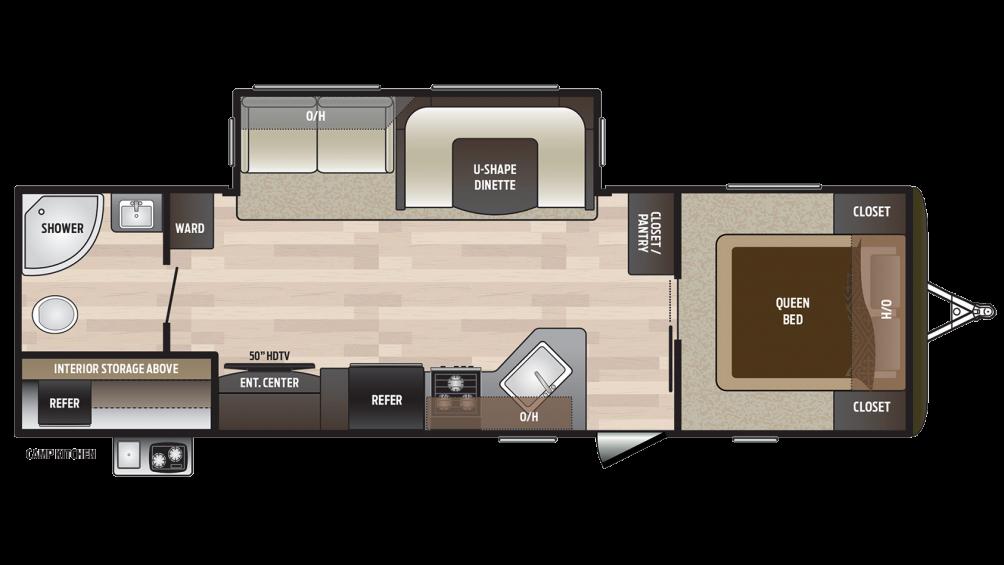 2018 Hideout 28RBS Floor Plan Img