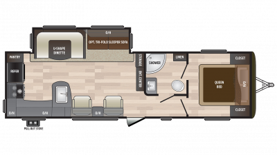 2018 Hideout 28RKS Floor Plan