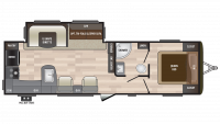 2019 Hideout 28RKS Floor Plan