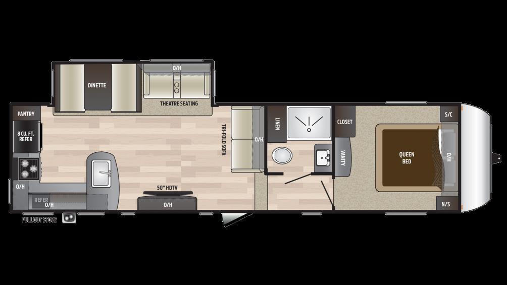 2018 Hideout 292MLS Floor Plan
