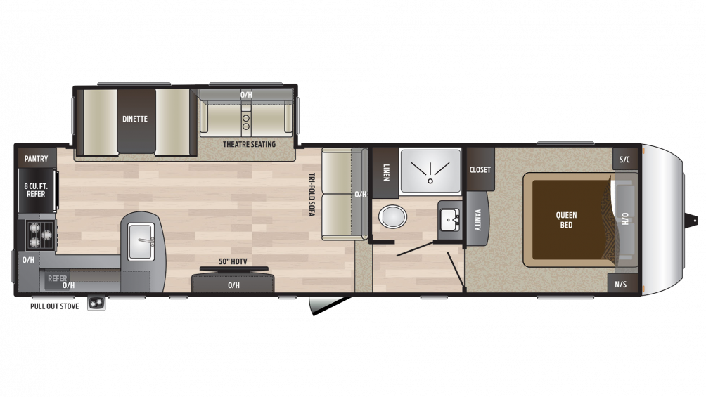 2018 Hideout 292MLS Floor Plan Img