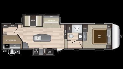 2018 Hideout 298BHDS Floor Plan Img