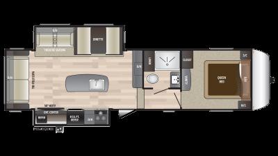 2018 Hideout 299RLDS Floor Plan Img