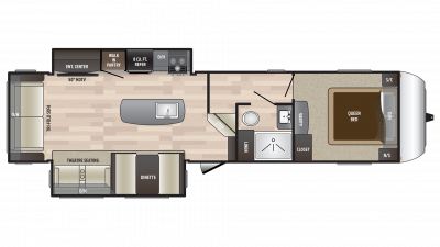 2018 Hideout 303RLI Floor Plan