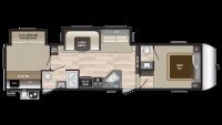2019 Hideout 308BHDS Floor Plan
