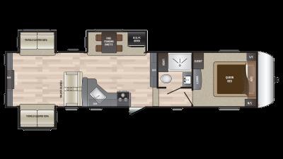 2018 Hideout 315RDTS Floor Plan