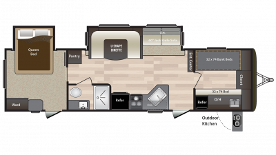 2018 Hideout 31FBDS Floor Plan Img
