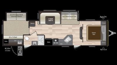 2018 Hideout 31RBDS Floor Plan Img