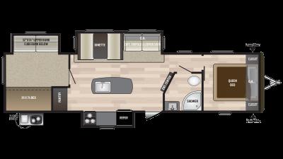 2018 Hideout 32BHTS Floor Plan Img