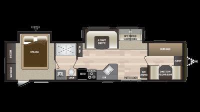 2018 Hideout 38BHDS Floor Plan Img