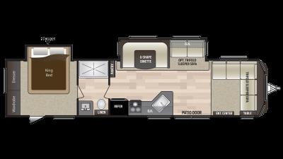 2018 Hideout 38FDDS Floor Plan Img
