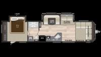2019 Hideout 38FDDS Floor Plan