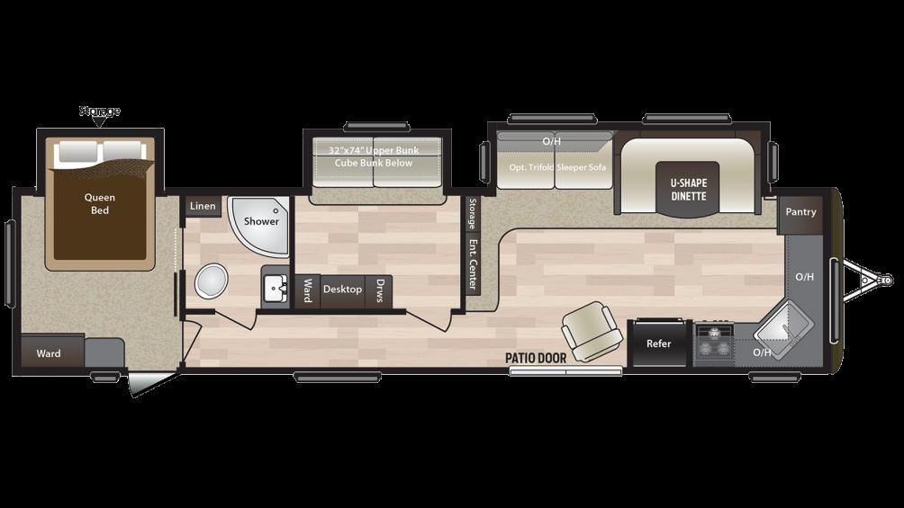 2018 Hideout 38FKTS Floor Plan
