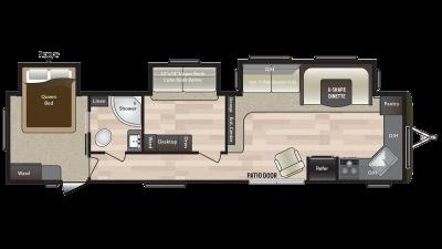 2018 Hideout 38FKTS Floor Plan Img