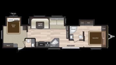2018 Hideout 38FQTS Floor Plan Img