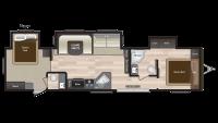 2019 Hideout 38FQTS Floor Plan