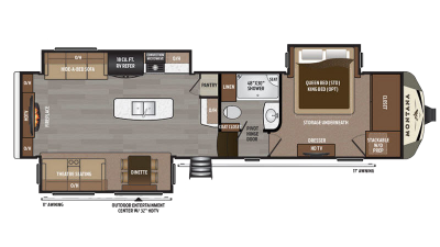 2018 Montana 3000RE Floor Plan