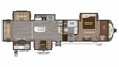 2018 Montana 3661RL Floor Plan