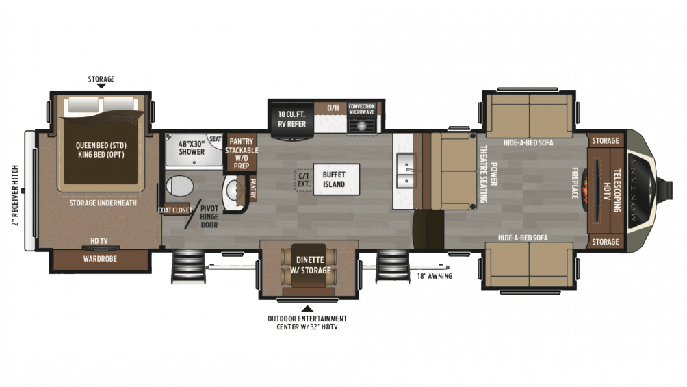 2018 Montana 3730FL Floor Plan