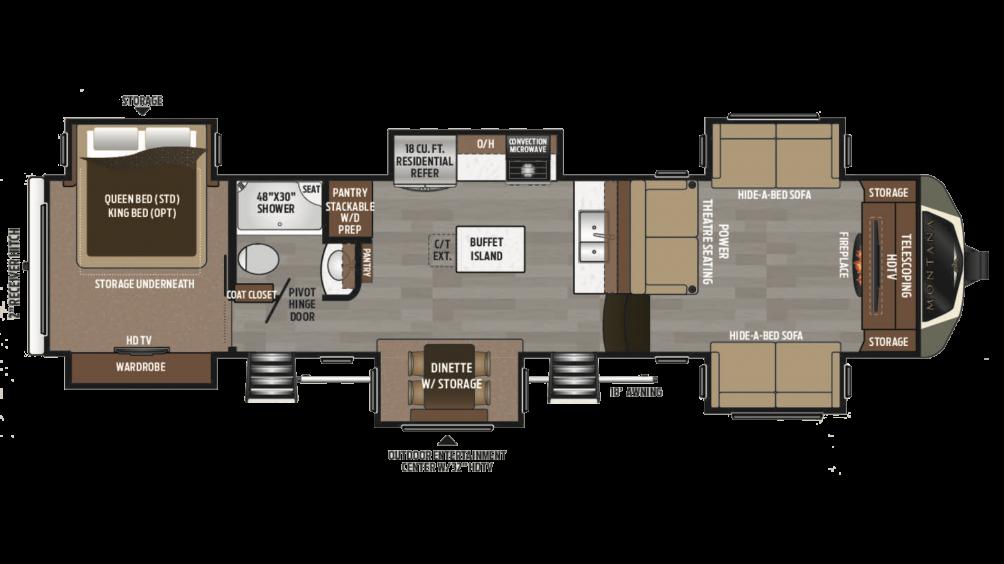 2018 Montana 3731FL Floor Plan