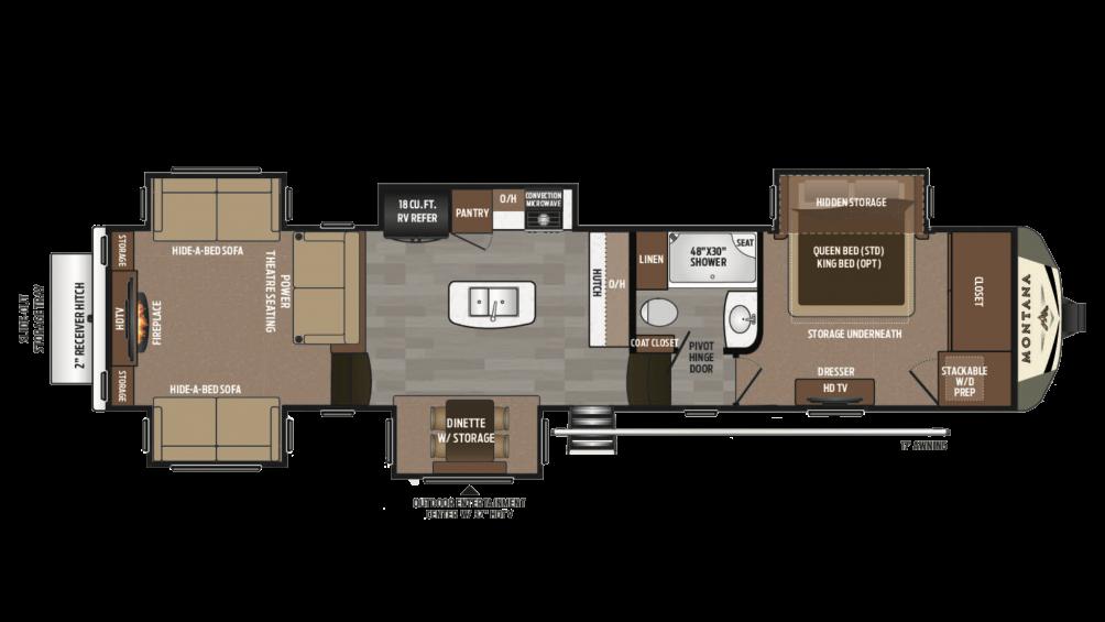 2018 Montana 3790RD Floor Plan