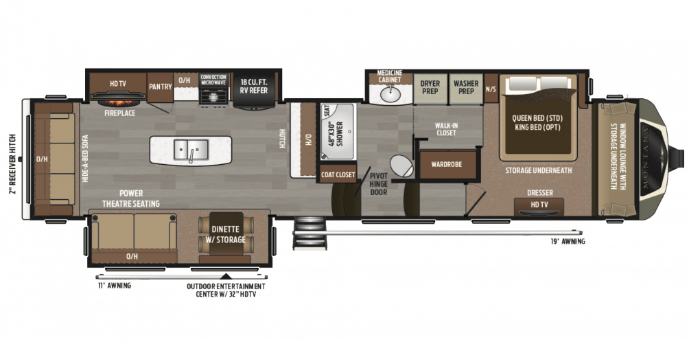 2018 Montana 3810MS Floor Plan Img