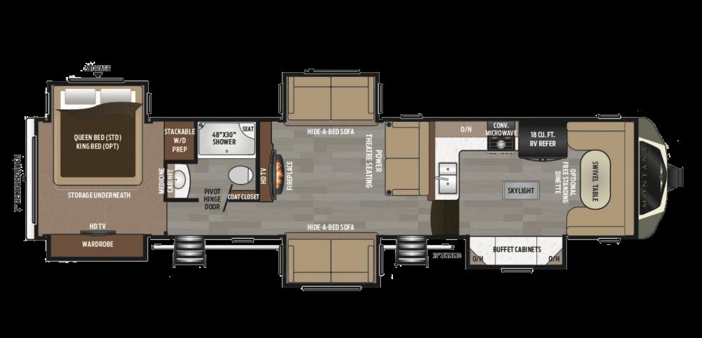 2018 Montana 3820FK Floor Plan Img