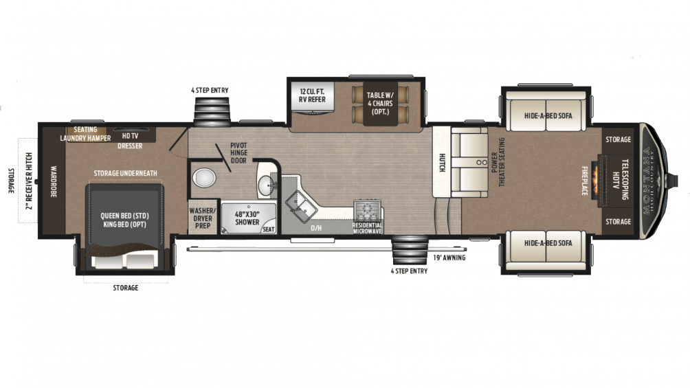 2018 Montana High Country 374FL Floor Plan