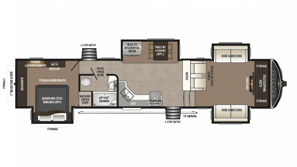 2018 Montana High Country 375FL Floor Plan