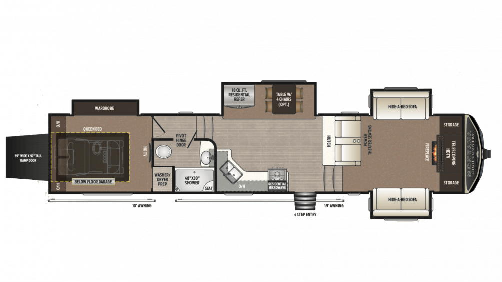 2018 Montana High Country 381TH Floor Plan Img