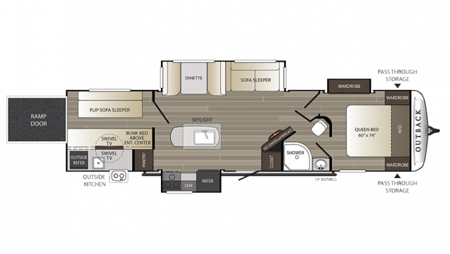 2018 Outback 335CG Floor Plan