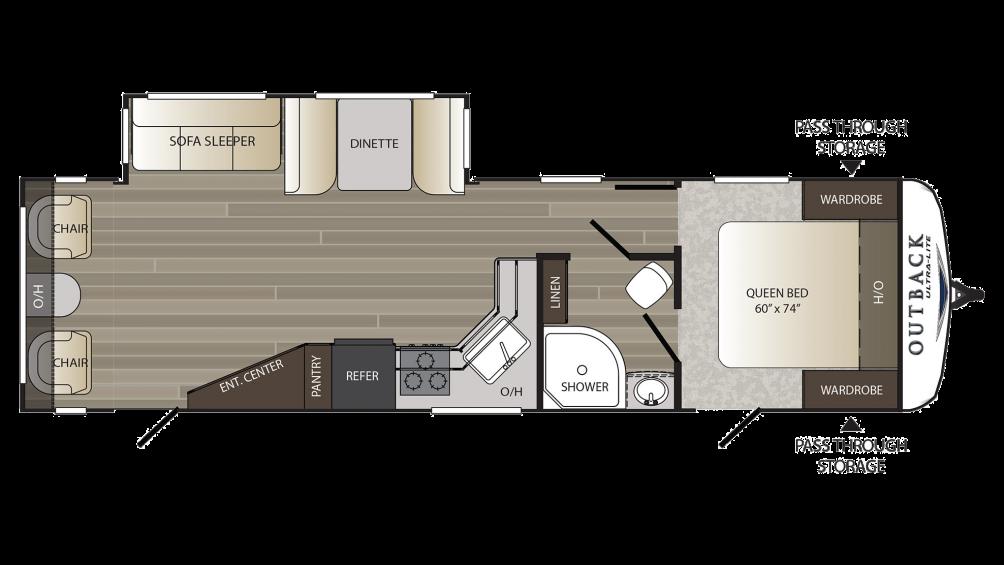 2018 Outback Ultra Lite 299URL Floor Plan