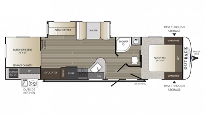 2018 Outback Ultra Lite 320UBH Floor Plan