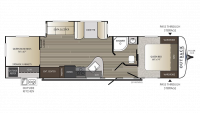 2019 Outback Ultra Lite 320UBH Floor Plan