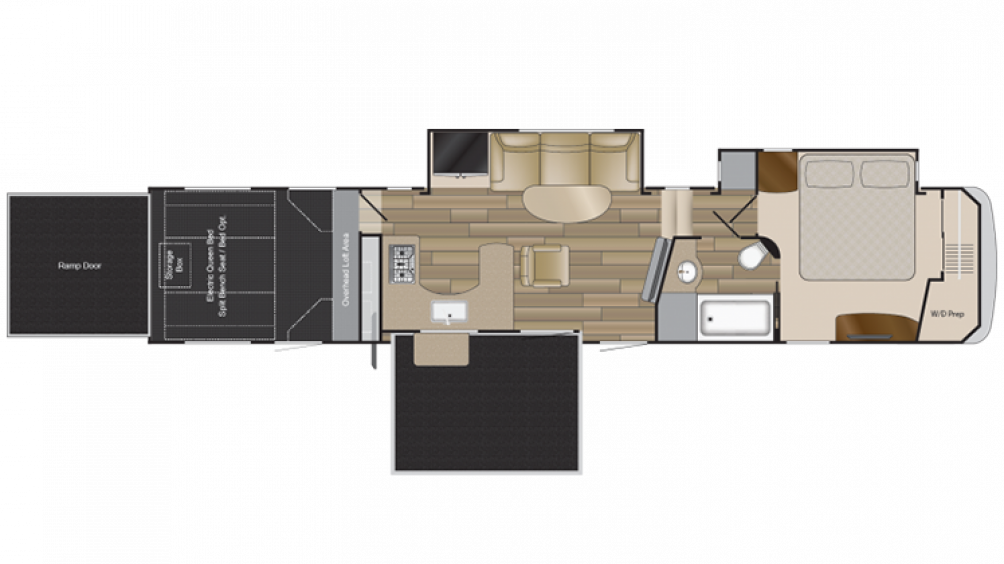 2018 Road Warrior RW428 Floor Plan Img