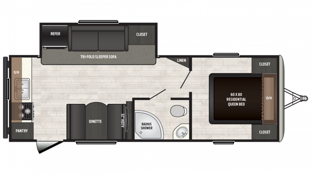 2018 Sprinter Campfire Edition 25RK Floor Plan