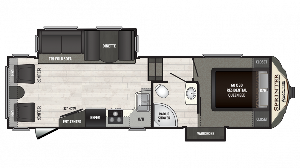 2018 Sprinter Campfire Edition 26FWRL Floor Plan Img
