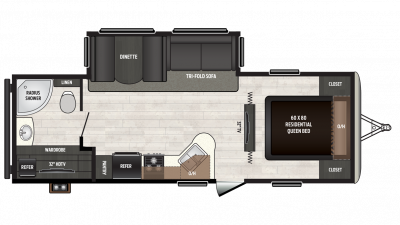 2018 Sprinter Campfire Edition 26RB Floor Plan