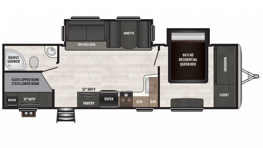 Sprinter Campfire Edition 29BH Floor Plan - 2018