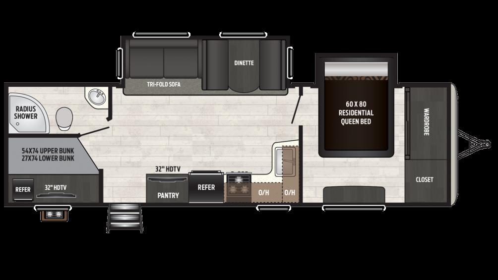 2018 Sprinter Campfire Edition 29BH Floor Plan Img