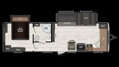 2018 Sprinter Campfire Edition 29FK Floor Plan