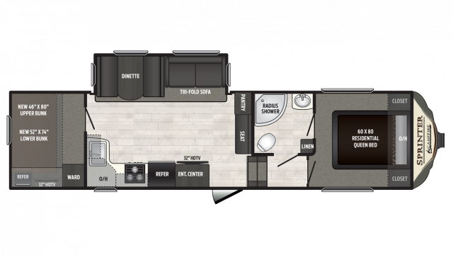 2018 Sprinter Campfire Edition 29FWBH Floor Plan