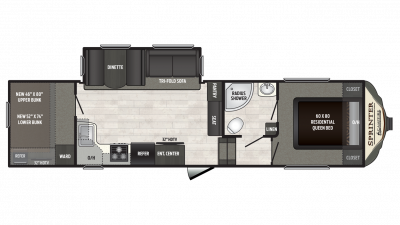 2018 Sprinter Campfire Edition 29FWBH Floor Plan