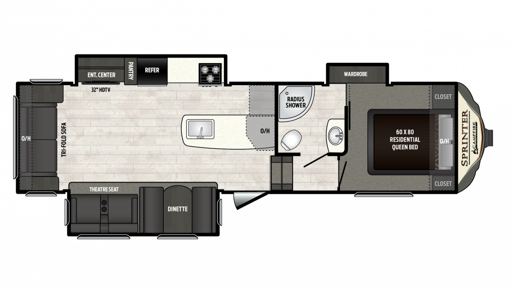 2018 Sprinter Campfire Edition 29FWRL Floor Plan